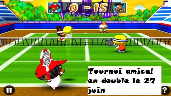 affiche amusante tennis